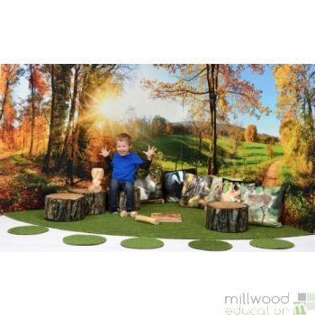 Autumn Walk Wonderscape Panels and Grass Only