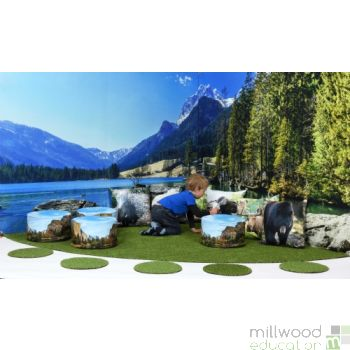 Mountain Lake Wonderscape Panels and Grass Only