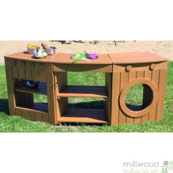 Outdoor Curved Kitchen