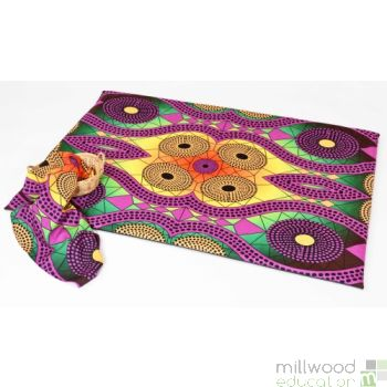 Soft Mat and Fabric Piece African