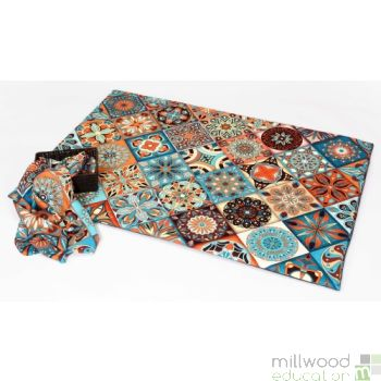 Soft Mat and Fabric Piece Moroccan