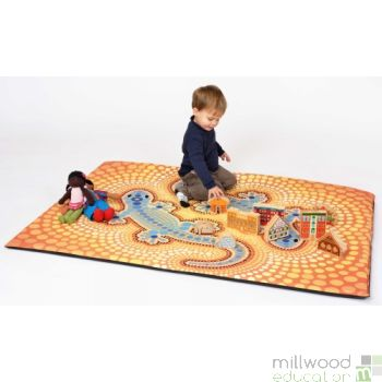 Soft Mat and Fabric Piece Aboriginal