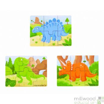 Six Piece Puzzles Dinosaur