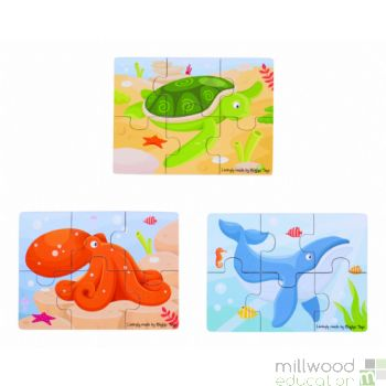Six Piece Puzzles Sealife