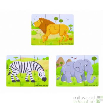 Six Piece Puzzles Safari