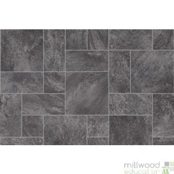 Role Play Flooring Mat Black Marble Tiles