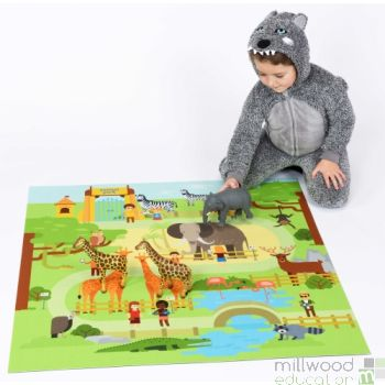 Square Playmat Animal Park