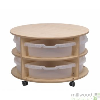 Low Level Circular Storage with Tubs/Castors