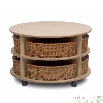 Low Level Circular Storage with Baskets/Castors