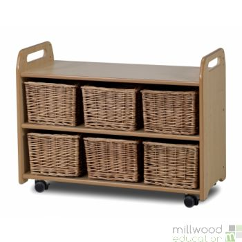 Mobile Storage Unit With Baskets