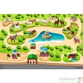 Giant Playmat - Petting Zoo