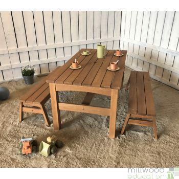 Outdoor Hardwood Table