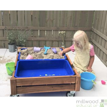 Outdoor Sand Box with Castors