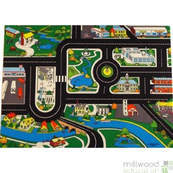 Large Town Roadway Playmat