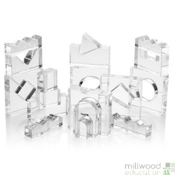 Clear Crystal Block Set