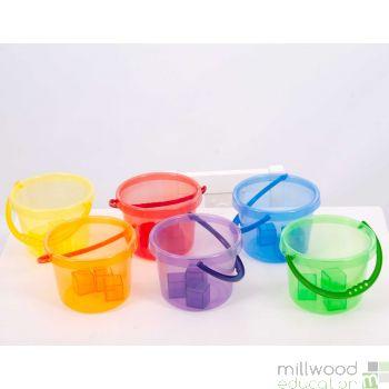 Translucent Colour Bucket Set