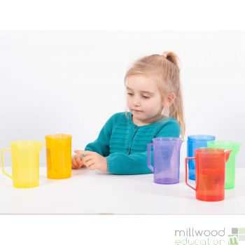 Translucent Colour Jug set of 6