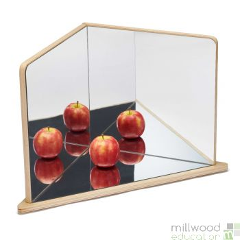 Wooden 4 Way Mirror