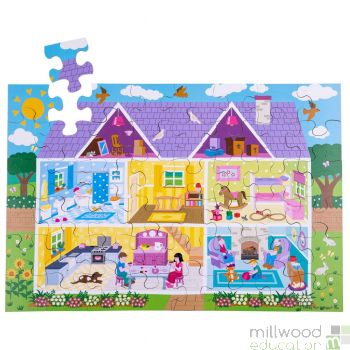 Dolls House Wooden Floor Puzzle