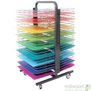 50 Shelf Mobile Double Sided Drying Rack