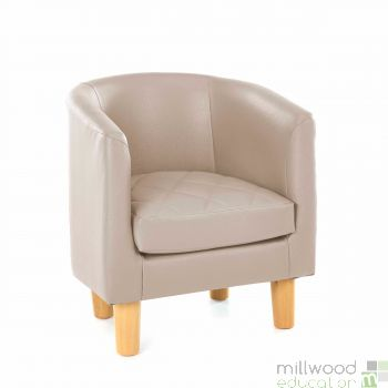 Quilted Tub Chair - BEIGE