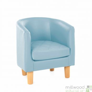 Quilted Tub Chair - SKY BLUE