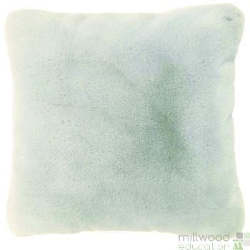 Faux Fur Cushion Ivory