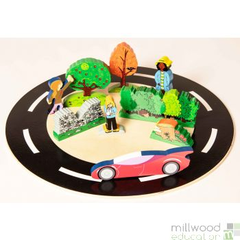 Wooden Shape Drive Arounds Set of 4