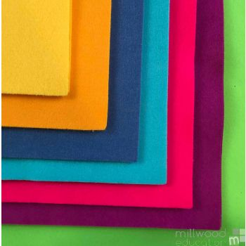 Felt Squares Bright Colours
