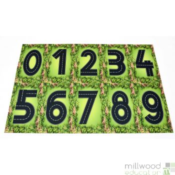 Roadway Numbers Playmat