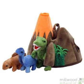 Dinosaur Volcano Hide Away Puppet