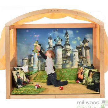 Wooden Stage Setter with Fairytale Scene Setter