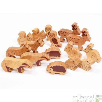 Wooden Forest Animal Set