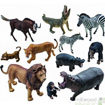 Plastic African Animals Set 1