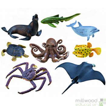 Plastic Sea Life Animals Set