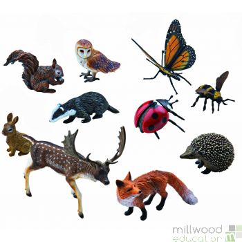 Plastic Woodland Animal Set