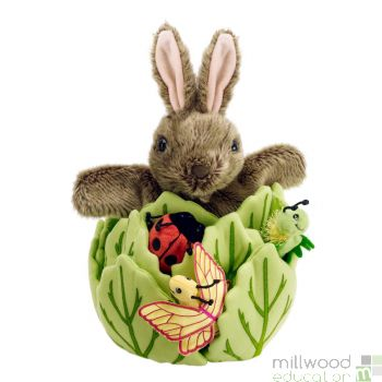 Rabbit in a Lettuce Hide Away Puppet