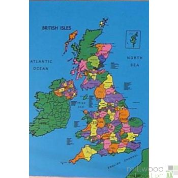 British Isles Coloured Cloth