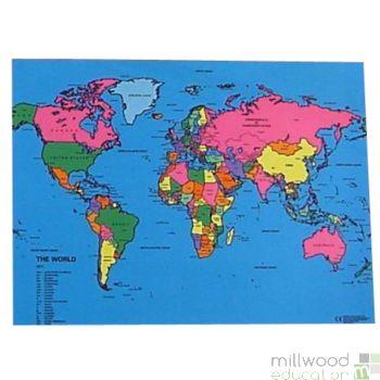 World Coloured Mapcloth