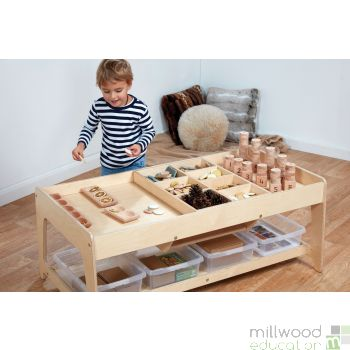 Investigative Play Table with Tubs