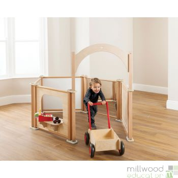 Toddler Play Panel Set of 6 with Arch