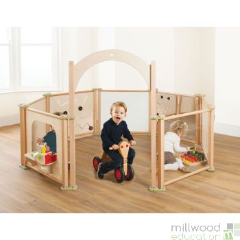 Toddler Play Panel Set of 8 Panels with Arch