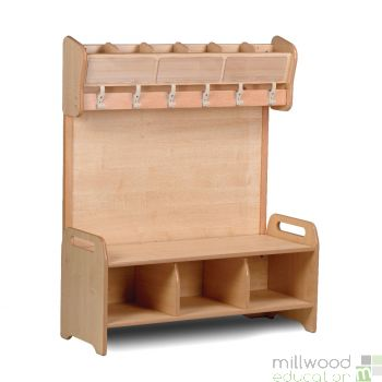 Cloakroom Cubby Freestanding Unit
