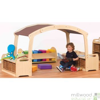 Low Level Den Cave Set Taupe with Clear Tubs
