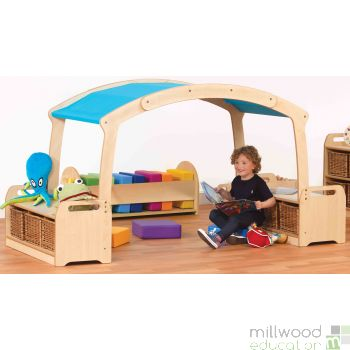 Low Level Den Cave Set Blue with Clear Tubs