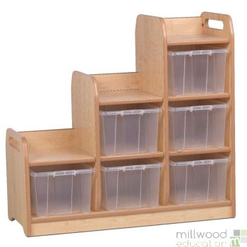 Stepped Storage Right Hand with Tubs