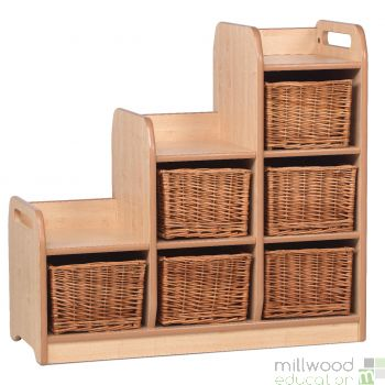 Stepped Storage Right Hand with Baskets