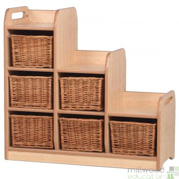 Stepped Storage Left Hand with Baskets