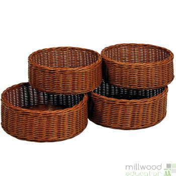Set of 4 Round Baskets