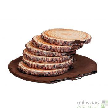 Log Seat Pads with Bag (set of 6)